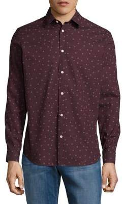 Selected Patterned Button-Down Shirt