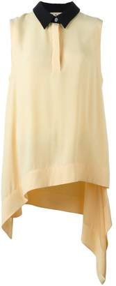 Marni draped sleeveless blouse