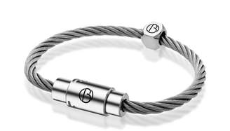 Bailey of Sheffield Personalised Stainless Steel Cable Bracelet