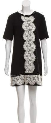 Lanvin Studded Lace-Trimmed Dress