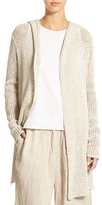 Women's James Perse Open Stitch Hooded Cardigan $395 thestylecure.com