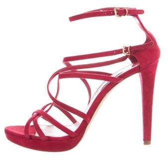 Miu MiuMiu Miu Suede Multistrap Sandals