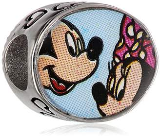 Disney Girls' Mouse Stainless Steel Best Friends Oval Bead Charm