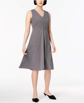 Max Mara Filippo Printed V-Neck Dress