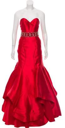 Mac Duggal Sleeveless Ruffled Gown w/ Tags