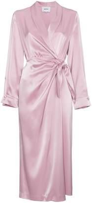 Nanushka Ezra satin wrap around dress