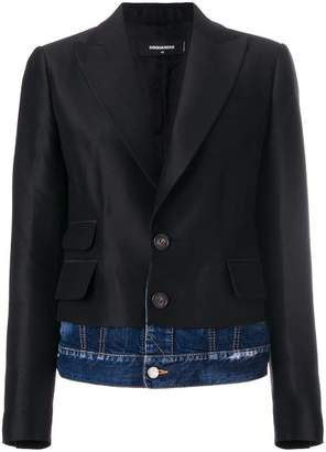 DSQUARED2 Giacca denim underlayer blazer