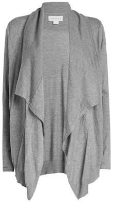 Velvet Draped Cotton Cardigan