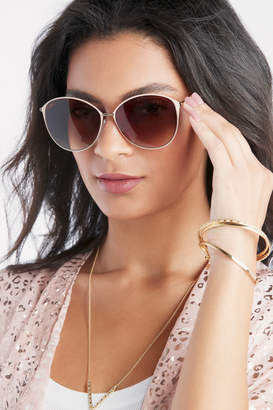 Sole Society Women's Annalynne Over Round Sunglasses Nude One Size Plastic From