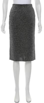 Prada Metallic Knee-Length Skirt w/ Tags