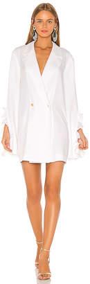 Caroline Constas Ruffle Blazer Dress
