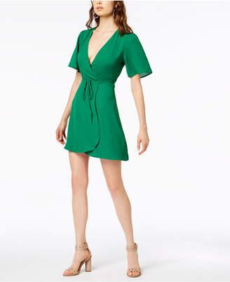 Socialite Short-Sleeve Wrap Dress