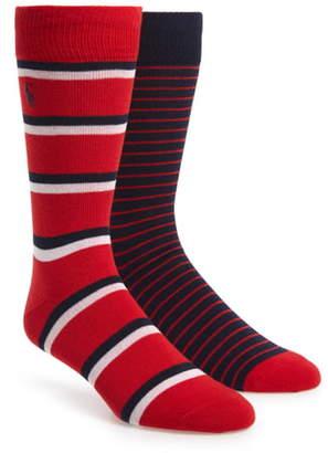 Polo Ralph Lauren 2-Pack Stripe Socks