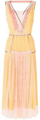 Bottega Veneta lace block midi dress