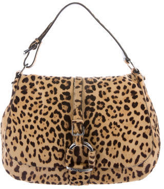 Ralph Lauren Ponyhair Leopard Print Satchel $545 thestylecure.com