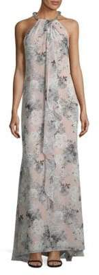 Calvin Klein Ruffled Halterneck Maxi Dress