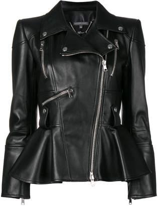 Alexander McQueen peplum biker jacket