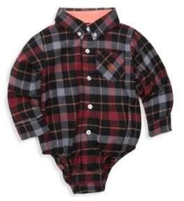 Andy & Evan Baby Boy's Flannel Shirt Bodysuit