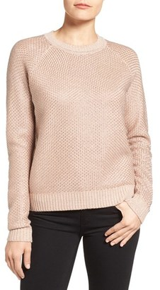 Women's Ivanka Trump Chain Mail Metallic Knit Sweater $89 thestylecure.com