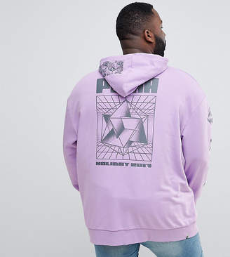 Puma PLUS Hoodie With Back Print In Purple Exclusive To ASOS