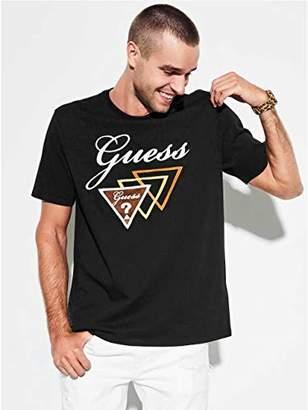 GUESS Men's Short Sleeve Oversized Script Logo Shirt