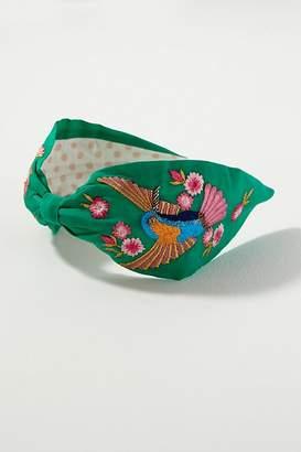 Hummingbird-Embroidered Headband