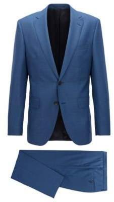 BOSS Hugo Wool Suit, Regular Fit Johnstons/Lenon 42L Open Blue