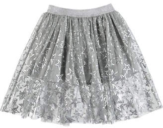 Stella McCartney Metallic Stars A-Line Skirt, Size 4-14
