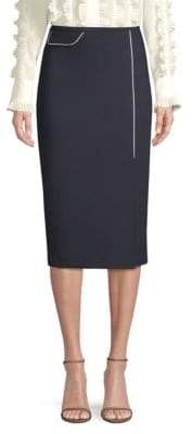 Escada Randhi Wool-Blend Pencil Skirt