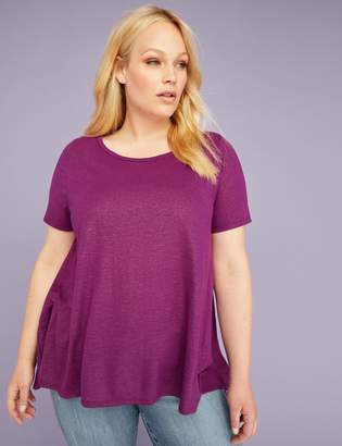 Lane Bryant Shimmer Trapeze Tee