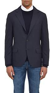 Brunello Cucinelli Men's Wool-Silk Three-Button Sportcoat - Navy