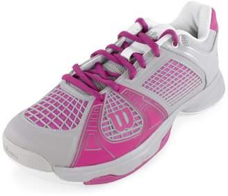 Wilson Women's Rush NGX Tennis Shoe - Steel Grey /New Fuchsia/White [Shoes]