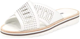 Charles David Sneaky Studded Leather Slide Sandal