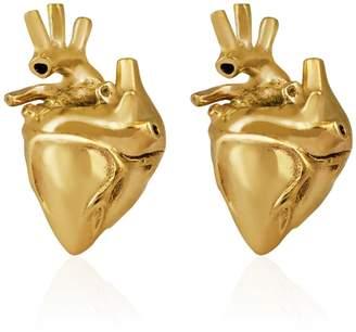 Strange Fruit - Heart Studs Gold