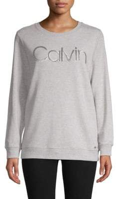 Calvin Klein Space-Dyed Sequin Logo Sweatshirt
