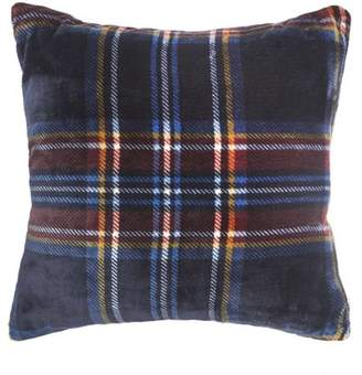 "Vellux Mackenzie Plush 20"" Square Navy Decorative Pillow"