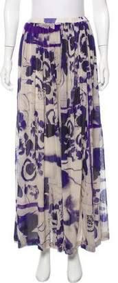 Jean Paul Gaultier Soleil Printed Midi Skirt