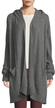 Vince Hooded Open-Front Boiled Cashmere Cardigan