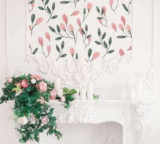 Pottery Barn Soft Blush Florals Wall Decal