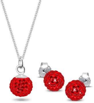 Elli Women's 925 Sterling Silver Xilion Cut Jewellery Set