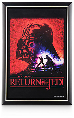 Star Wars: Return of the Jedi Movie Poster Reproduction Metal Print - Framed