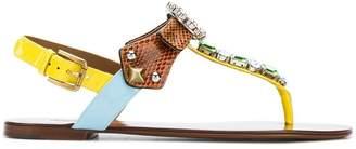 Dolce & Gabbana embellished thong sandals