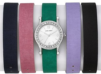 Laura Ashley Women's LA31012 Analog Display Japanese Quartz Multi-Color Watch Set $58.01 thestylecure.com