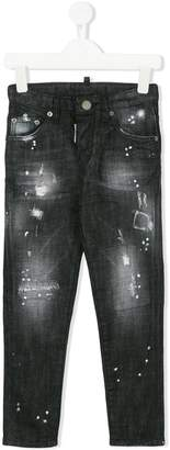 DSQUARED2 distressed effect skinny jeans