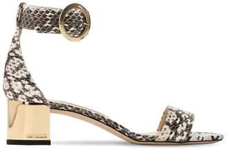 Jimmy Choo 40mm Jaimie Snakeskin Sandals