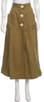 Natasha Zinko Button Accented Midi Skirt