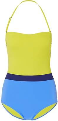 Flagpole Swim 'Rita' colourblock halterneck one-piece swimsuit