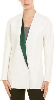 Akris Linen-Blend Silk-Lined Jacket