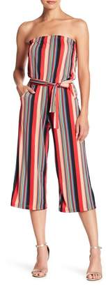 Velvet Torch Strapless Stripe Jumpsuit