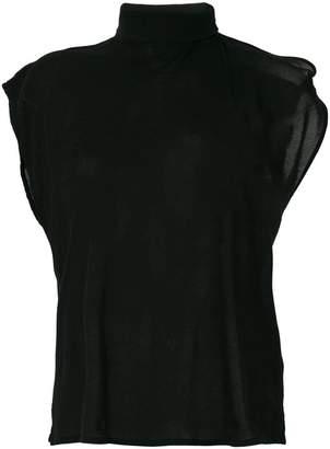 MM6 MAISON MARGIELA scarf neck T-shirt